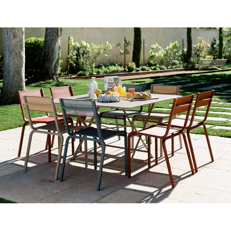Table 128x128cm cargo fermob les jardins d 39 h m ra for Fermob table de jardin