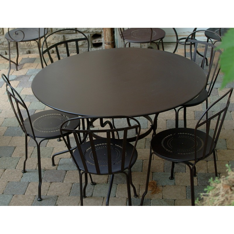 Table 117cm romane fermob les jardins d 39 h m ra for Vente table jardin