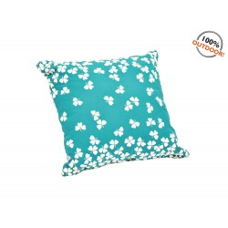 Coussin Outdoor Trèfle Bleu Turquoise