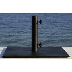 Steel umbrella base in satin black Ø 48cm - Les Jardins